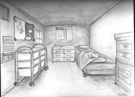 one point perspective bedroom drawing hd wallpaper free download