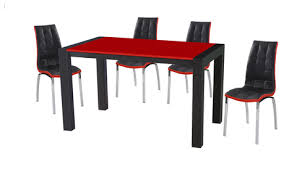 Dining Table And Chairs Sets  Bighouse Furniture - Red dining room chairs