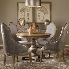 French Country Dining Room Sets Marius French Country Round Wood Silver Stud Dining Table Kathy