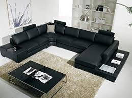 amazon com vig t35 contemporary black leather with adjustable