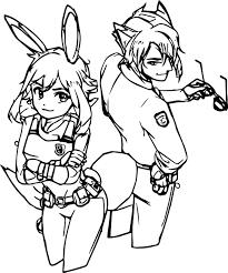 human nick wilde judy hopps bunny fox coloring page wecoloringpage