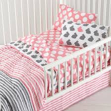 Pink And Yellow Bedding Not A Peep Yellow And Grey Toddler Bedding