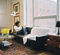 Black Leather Mid Century Sofa Living Room Design Black Leather Sofas Sofa Living Room Design