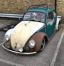 stanced volkswagen beetle rat look beetle