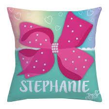 pink bows personalized pink bow throw pillow jojo siwa walmart