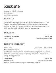 employment resume 21 employment resume format marvellous design