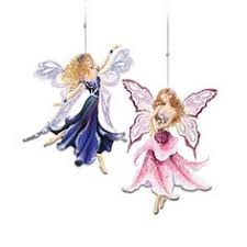 butterfly winged flower fairies ornaments with crystals princess