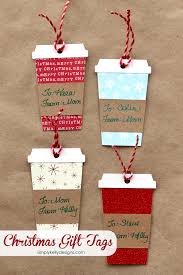 coffee or latte container christmas gift tags latte christmas