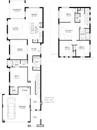 two story house plans narrow blocks home design 9 tremendous 2