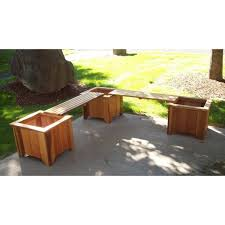 Garden Bench With Planters Planters And Plant Stands Rustic Furniture In A Nutshell Free