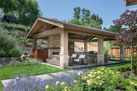 covered patio with fireplace detached covered patio traditional with outdoor fireplace aluminum