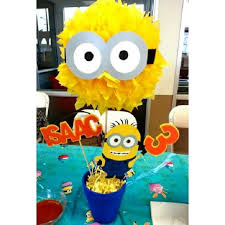 minion centerpieces minions party decorations great minions party decorations with