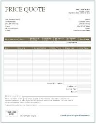catering quote template company profile business information