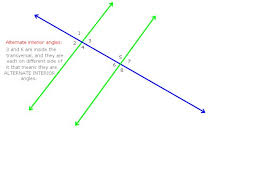 Alternate Interior by The Alternate Interior Angles Theorem States That If 2 Parallel