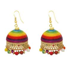 jhumki earring silk thread jhumki earrings at rs 100 pair malad west mumbai