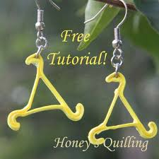quilling earrings tutorial pdf free download 107 best quilled earrings images on pinterest paper jewelry
