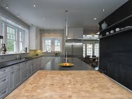 under cabinet recessed lighting gray countertops metallic tile matchstick white place settings