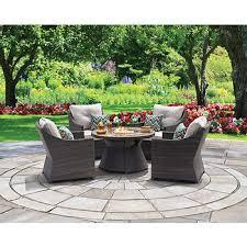 Jensen Outdoor Furniture Berkley Jensen Crane 5 Pc Fire Pit Chat Set Bj U0027s Wholesale Club