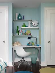 Uncomplicated Small Home Office Design DWEEFCOM Bright And - Closet home office design ideas
