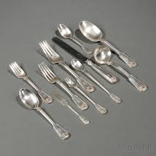 tiffany u0026 co shell and thread pattern sterling silver flatware