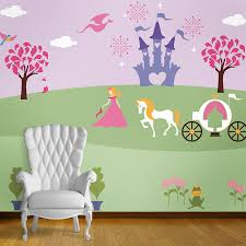 Wall Mural Ideas Kids Bedroom Ideas With Princess Wall Mural Wallpaper Mural