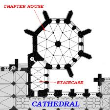 Gothic Architecture Floor Plan Medieval Wells Cathedral Chapter House