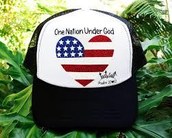American Flag Flat Bill Hat One Nation Under God Usa Flag Trucker Hat U2013 Tastysalt Christian