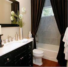 bathroom curtain ideas for shower white bathroom with chocolate accents and two shower curtains