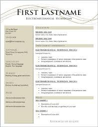 Template Resume Plain Decoration Template Resume Free Stylish Idea Templates