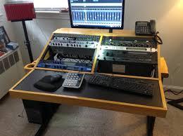 Diy Recording Desk Diy Workstation Desk Images 1 Home Studio Workstation