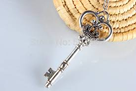 antique key necklace images Wholesale sterling silver key necklace skeleton key pendant jpg