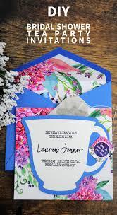 bridal shower tea party invitations diy bridal shower tea party invitations