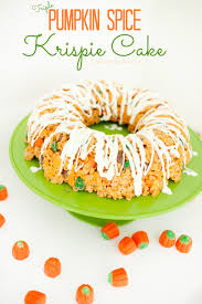 Rice Crispy Treat Pumpkins Triple Pumpkin Spice Krispie Treat Cake