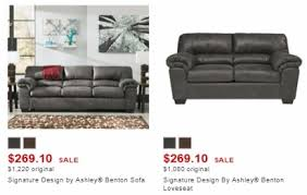 signature design by ashley benton sofa signature design by ashley sofa or loveseat only 353 74 each or