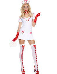 halloween nurse costume music legs white red medical naughty nurse party halloween