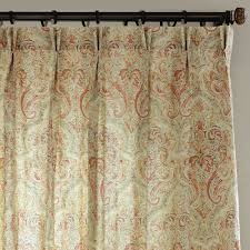Living Room Curtains Blinds Beige Orange Green Paisley Batik Flower Countryside Classic Cotton