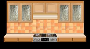 mission or craftsman style glass kitchen cabinet inserts