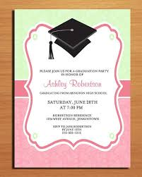 graduation invitations ideas ideas graduation invitations cards pink color calm best