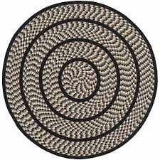 10 Foot Round Area Rugs Shop Safavieh Braided Ivory And Black Round Indoor Braided Area