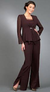 elegant empire mother of the bride pant suits with long sleeves