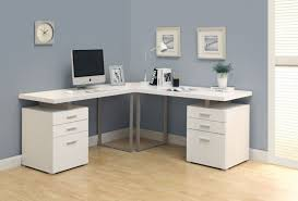 White Wooden Computer Desk The Desks L Shaped Desk Ikea Corner Computer With Hutch Pertaining