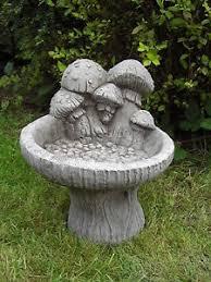 bird bath feeder table cast garden ornament