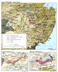 Ussr Map Sino Soviet Border Conflict Wikipedia