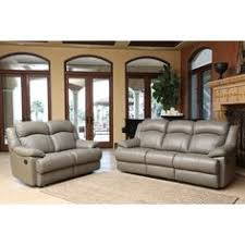 Grey Leather Reclining Sofa by Abbyson Clarence 3 Piece Top Grain Leather Reclining Sofa