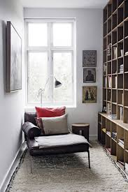 interiors best reading nook features charcoal fabric sectional
