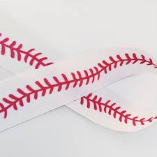 baseball ribbon baseball stitch ribbon and bows oh my