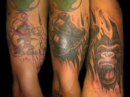 angry gorilla cover up custom tattooing by ainslie heilich u2026 flickr