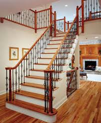 Wood Banisters And Railings Wrought Iron Interior Stair Railings Custom Interior Stair Rails