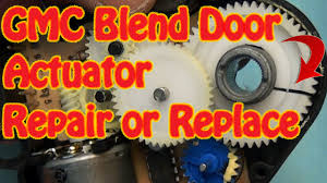 gmc chevy blend door actuator repair replacement fix constant heat