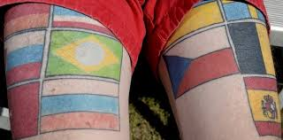 foreign exchange student host gets flag tattoos as mementos
